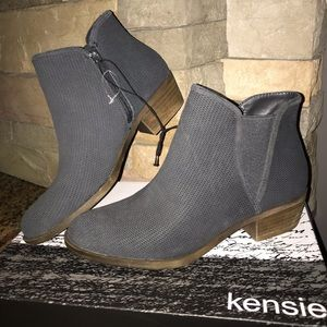 Kensie Gerona Grey Ankle Boots NEW Size Various